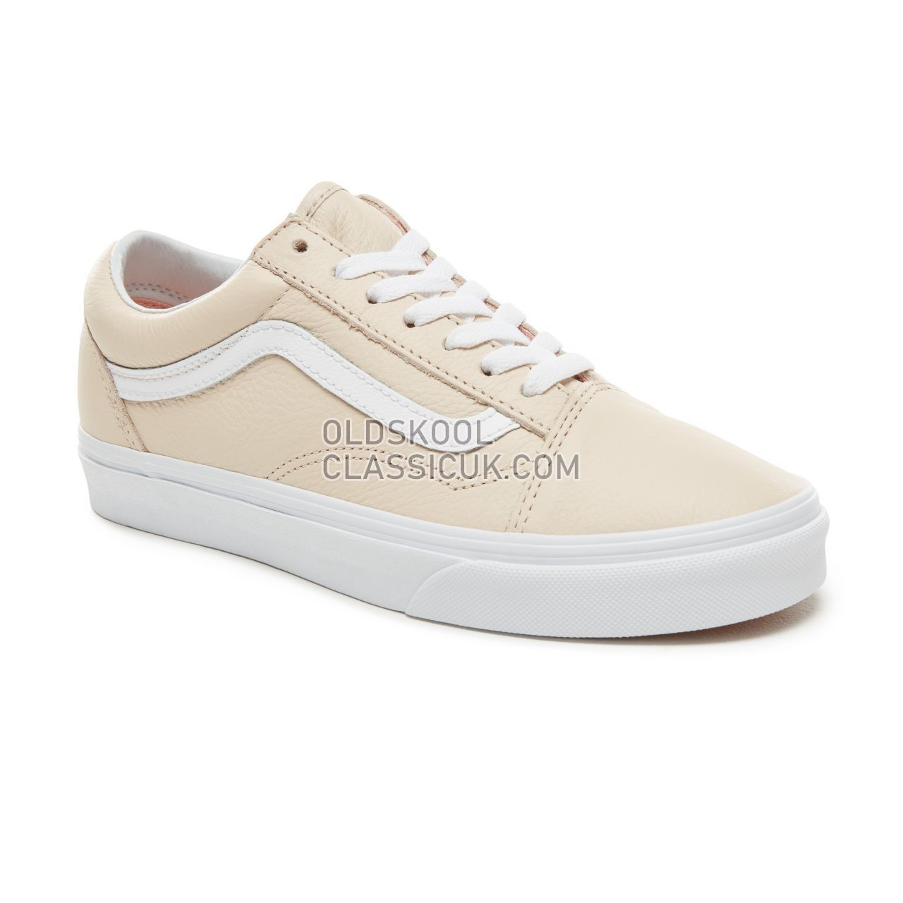 Vans Leather Old Skool Sneakers Womens (Leather) Sand Dollar VA38G1UA8 Shoes