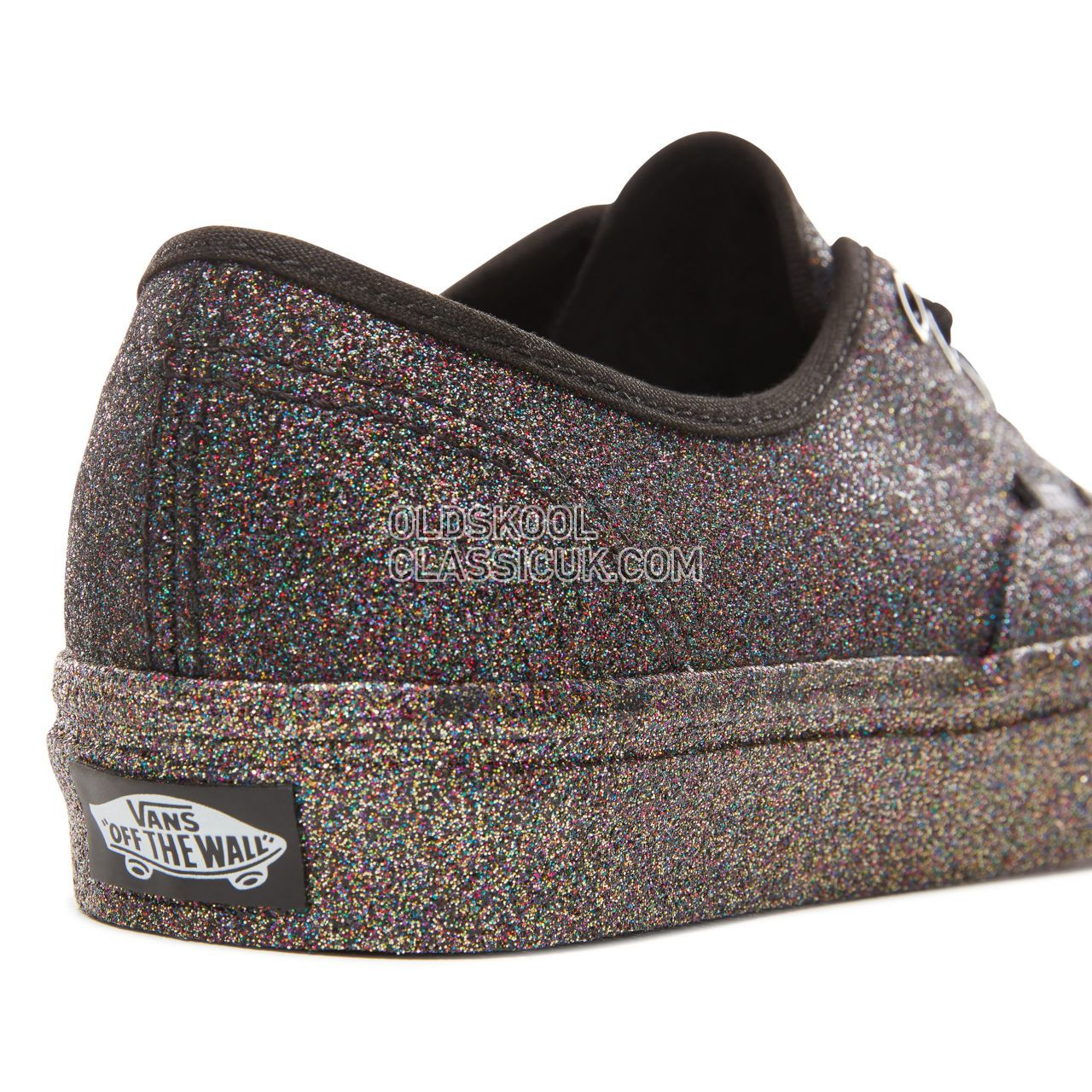 Vans Rainbow Glitter Authentic Sneakers Womens (Rainbow Glitter) Black/Black VN0A38EMUKN Shoes
