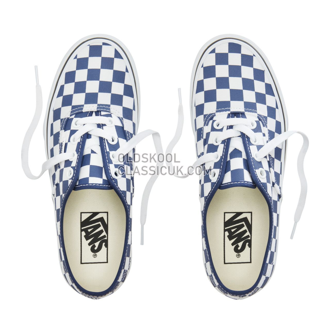 Vans Checkerboard Authentic Platform 2.0 Sneakers Womens (Checkerboard) Medieval Blue/True White VA3AV8S4D Shoes