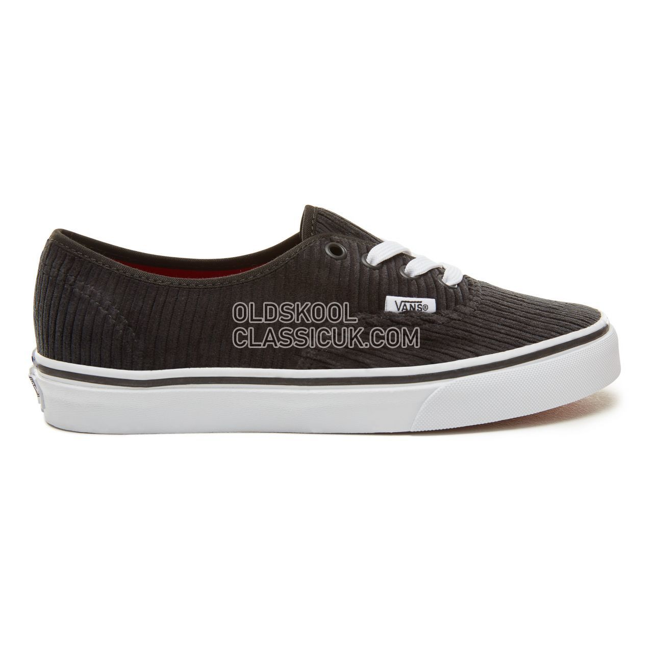 Vans Design Assembly Corduroy Authentic Sneakers Womens (Design Assembly) Black/True White VA38EMU55 Shoes