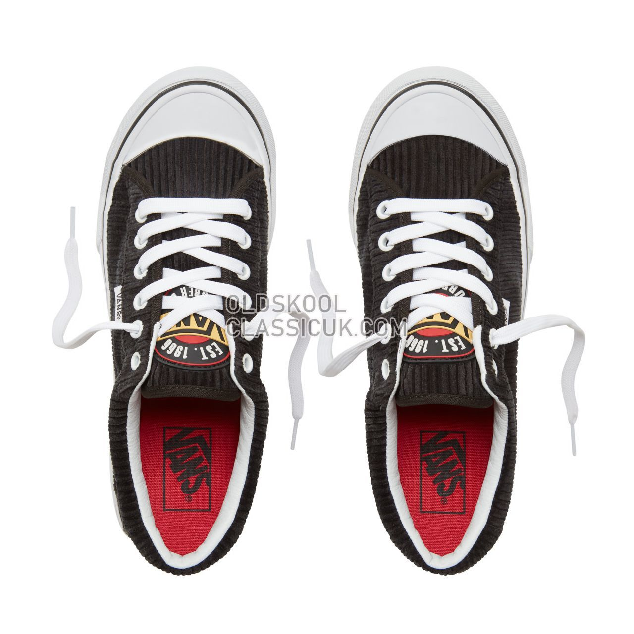 Vans Design Assembly Corduroy Style 29 Sneakers Womens (Design Assembly) Black/True White VA3MVHU55 Shoes