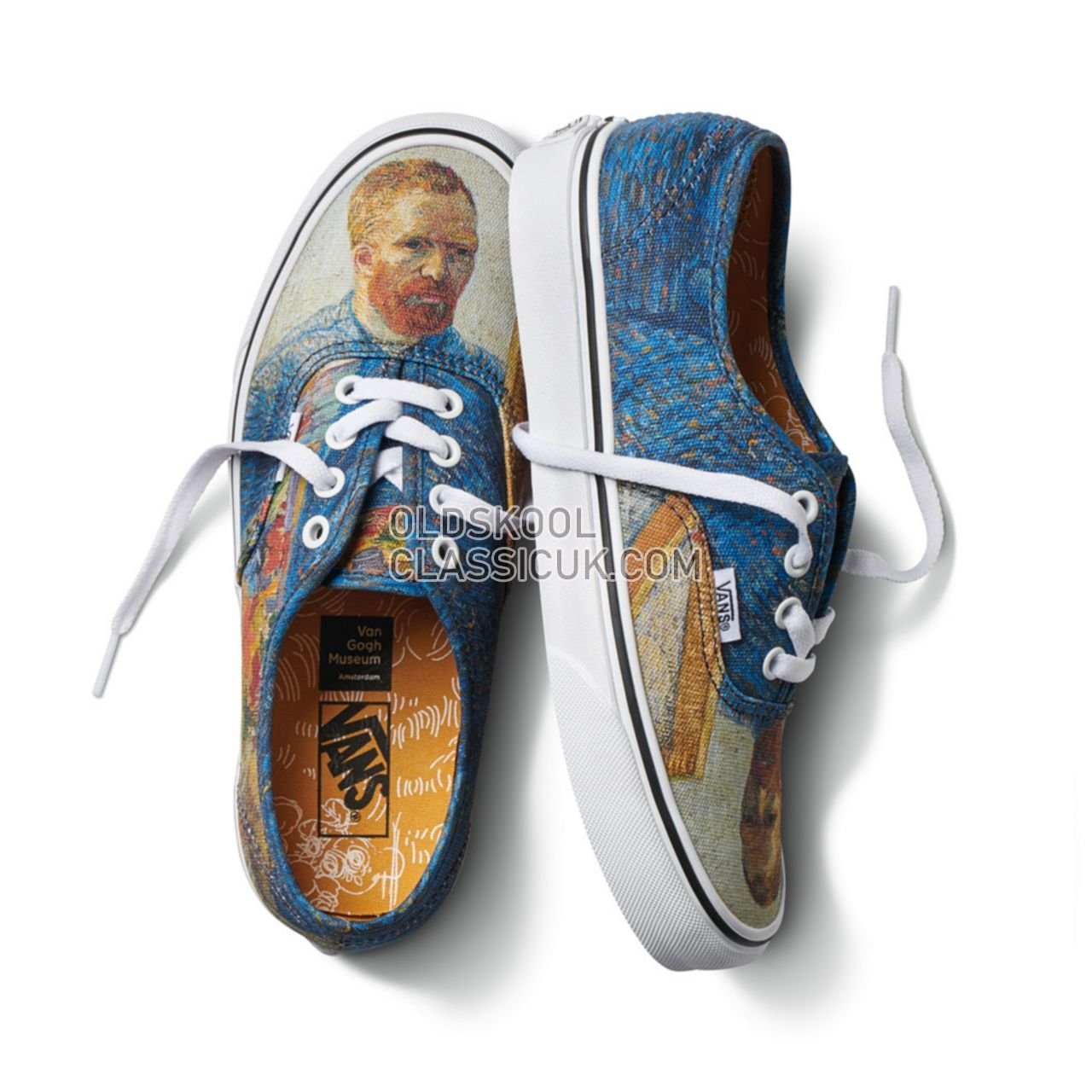 Vans x Van Gogh Museum Authentic Sneakers Womens (Vincent Van Gogh) Self/Portrait/True White VA38EMU5X Shoes