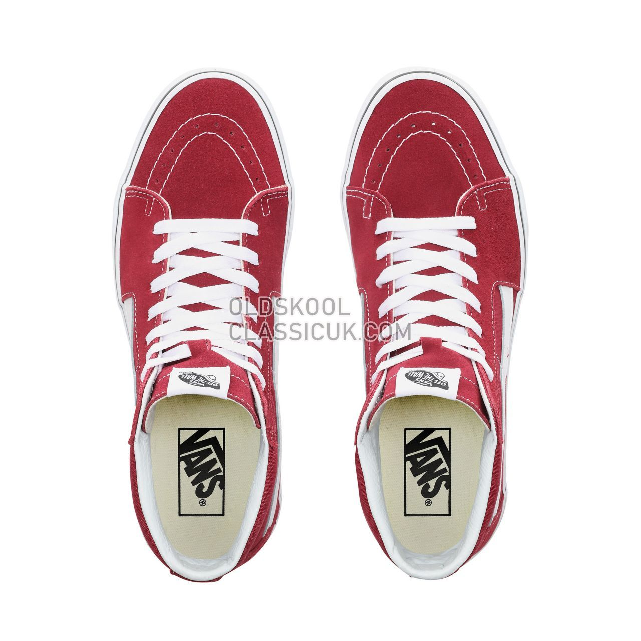 Vans Sk8-Hi Sneakers Mens Rumba Red/True White VN0A38GEVG4 Shoes
