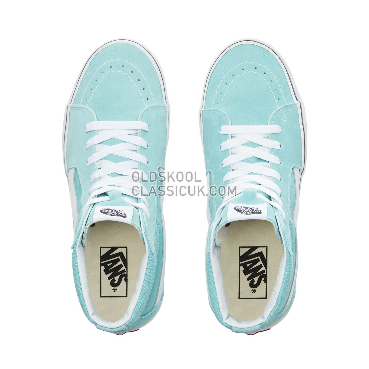 Vans Sk8-Hi Sneakers Mens Aqua Haze/True White VN0A38GEVKQ Shoes