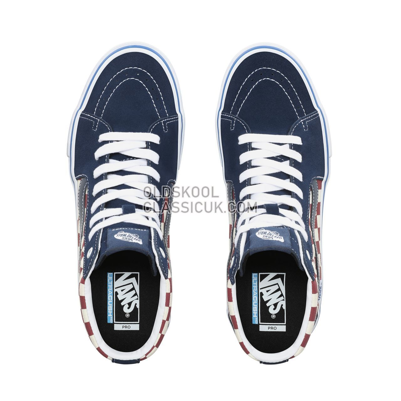 b09c2ee9b792 Vans Checker Sk8-Hi Pro Sneakers Mens (Checker) Dress Blues VN0A45JDVG8  Shoes - £65