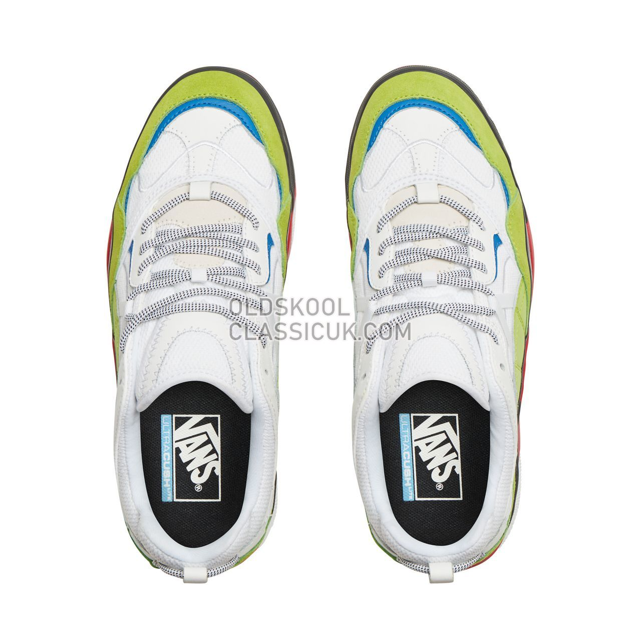 Vans Varix WC Sneakers Mens True White/Lime Green/Tango Red VN0A3WLNT44 Shoes