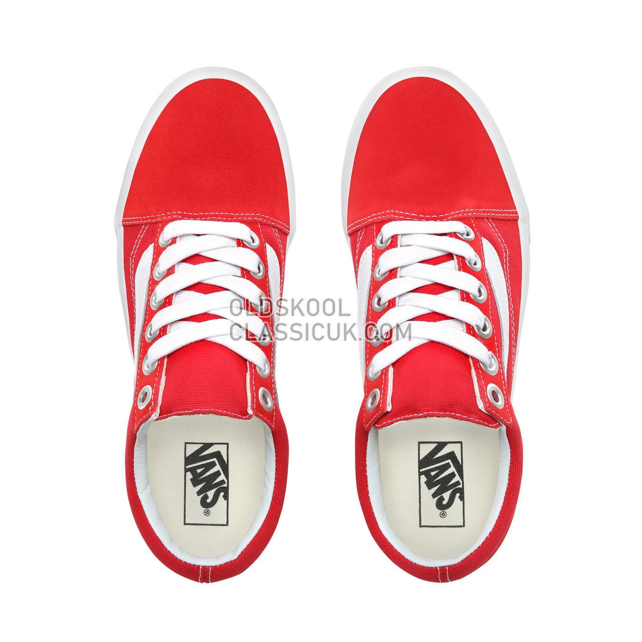 Vans Old Skool OS Sneakers Mens Womens Unisex Racing Red/True White VN0A3WLYJV6 Shoes