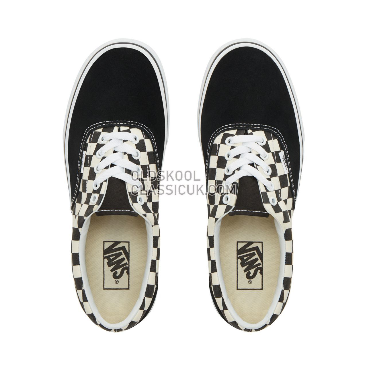 Vans Primary Check Era Sneakers Mens (Primary Check) black/white VN0A38FRP0S Shoes