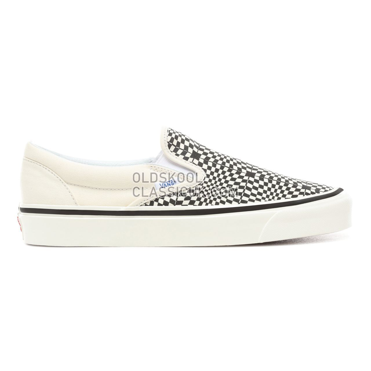 Vans Anaheim Factory Slip-On 98 DX Sneakers Mens (Anaheim Factory) Og Black/White/Warp Check VN0A3JEXVMY Shoes