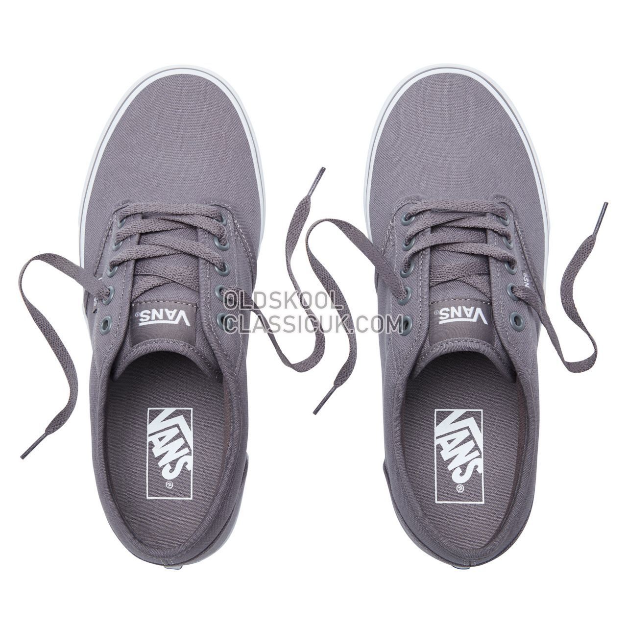 Vans Canvas Atwood Sneakers Mens (Canvas) Pewter/White VN000TUY4WV Shoes