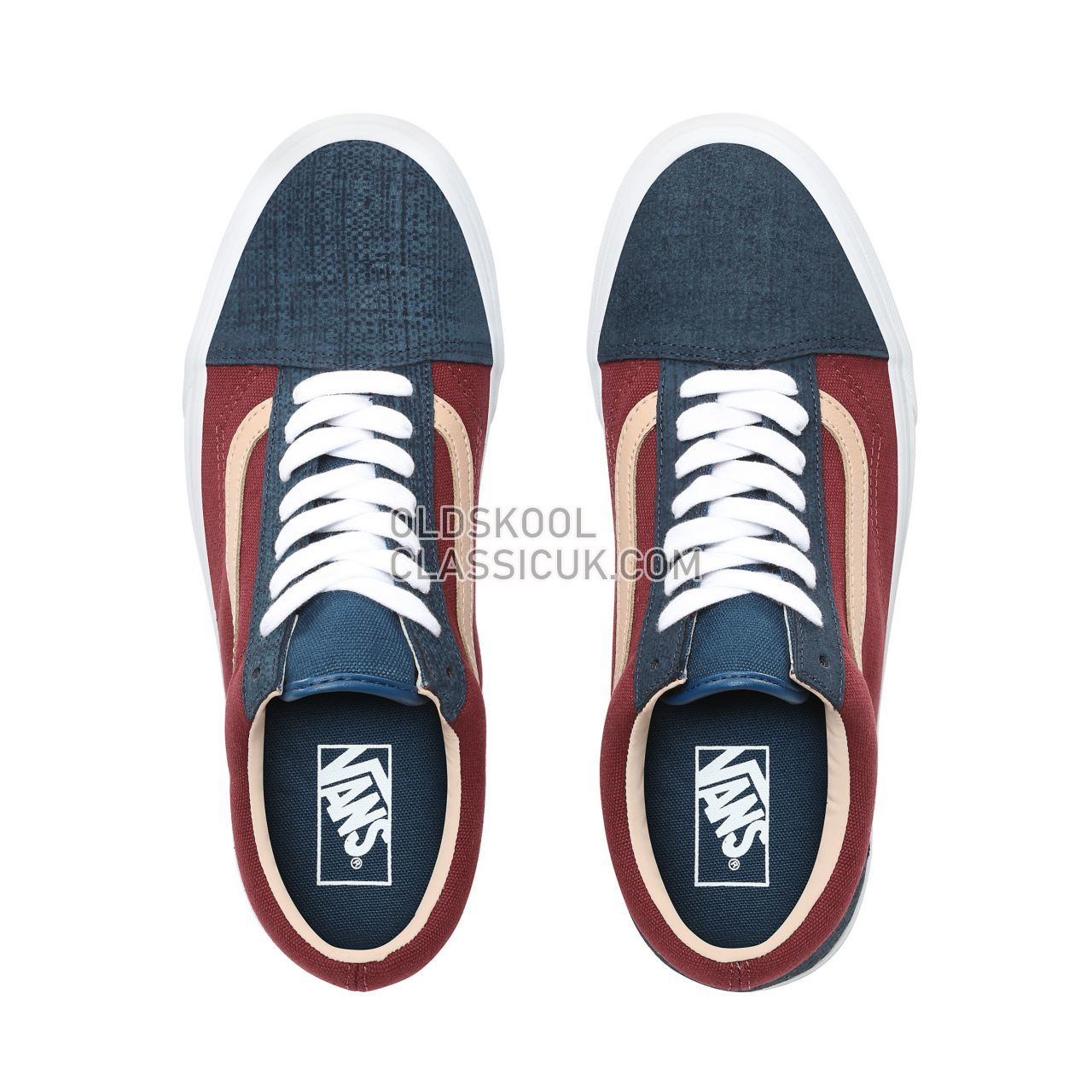 1812fa72b7e ... Vans Textured Suede Old Skool Sneakers Mens Womens Unisex (Textured  Suede) Sailor Blue