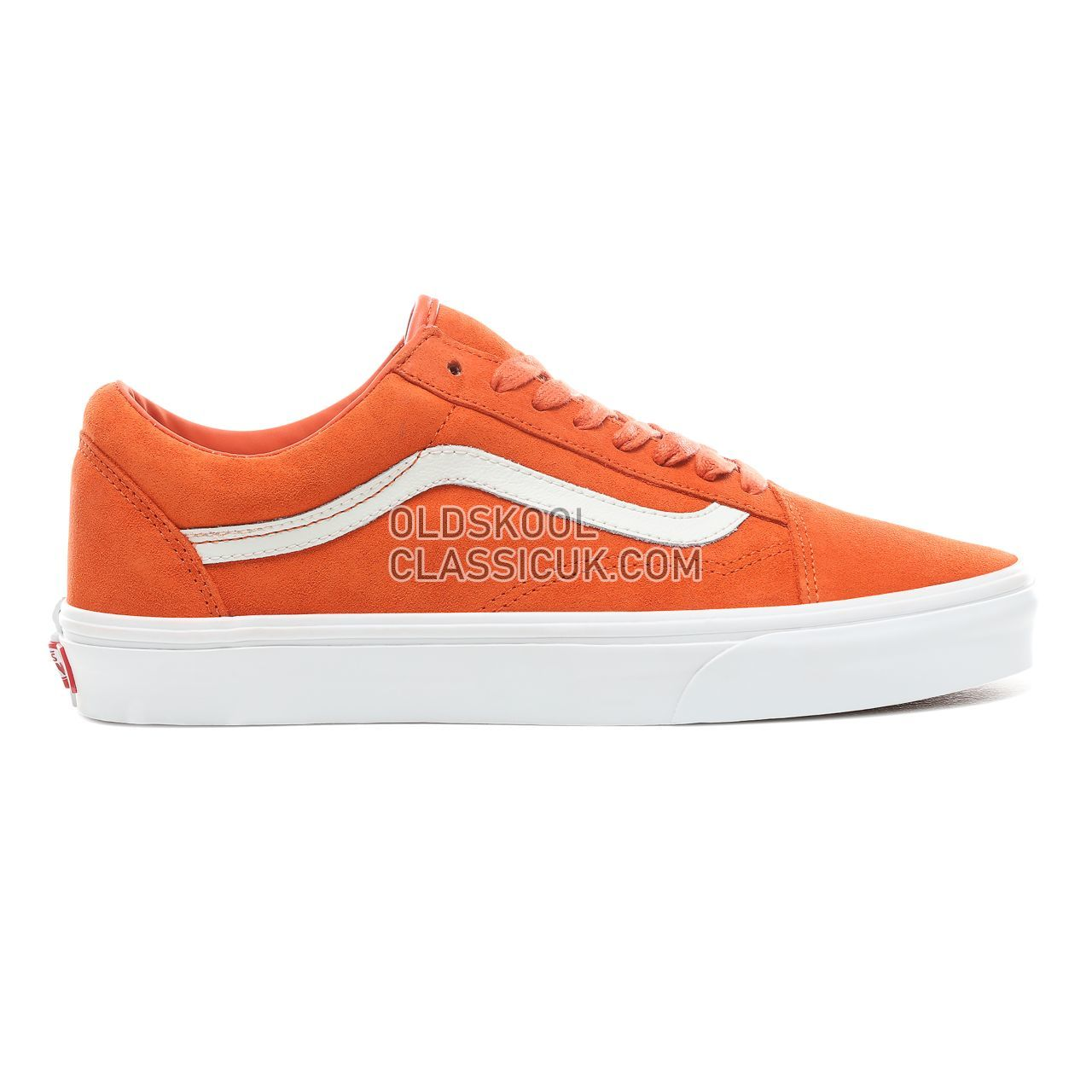 Vans Soft Suede Old Skool Sneakers Mens Womens Unisex (Soft Suede) Koi/True White VN0A38G1VKF Shoes