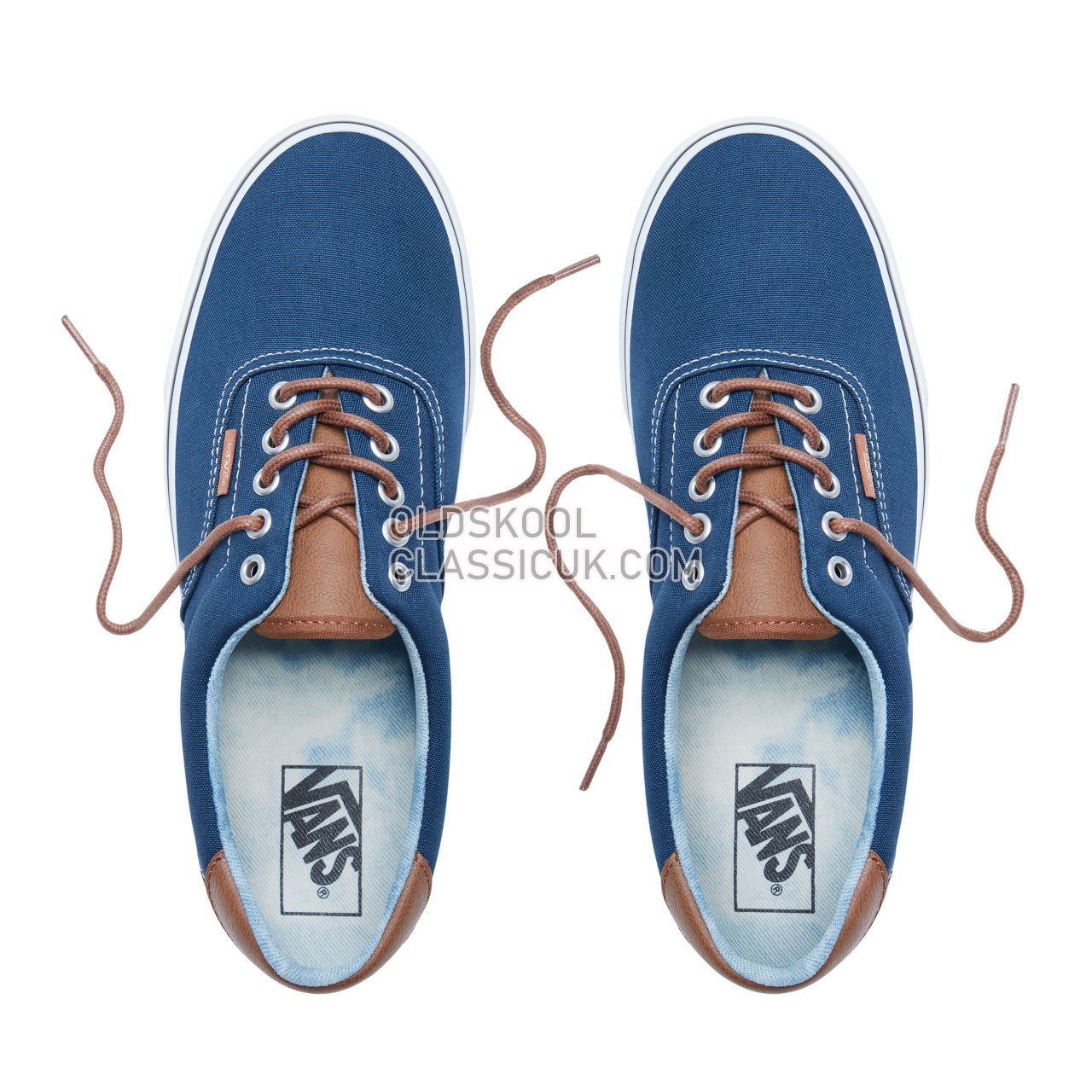 Vans C&L Era 59 Sneakers Mens Dress Blues-Acid Denim VN0A38FSQ6Z Shoes