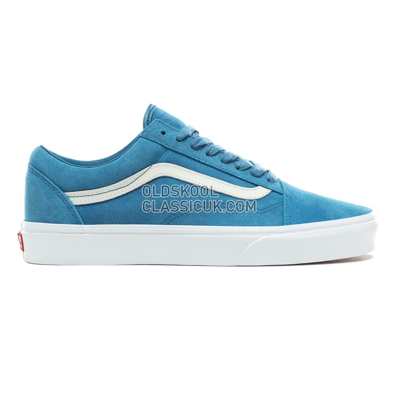 Vans Soft Suede Old Skool Sneakers Mens Womens Unisex (Soft Suede) Blue Sapphire/True White VN0A38G1VKD Shoes