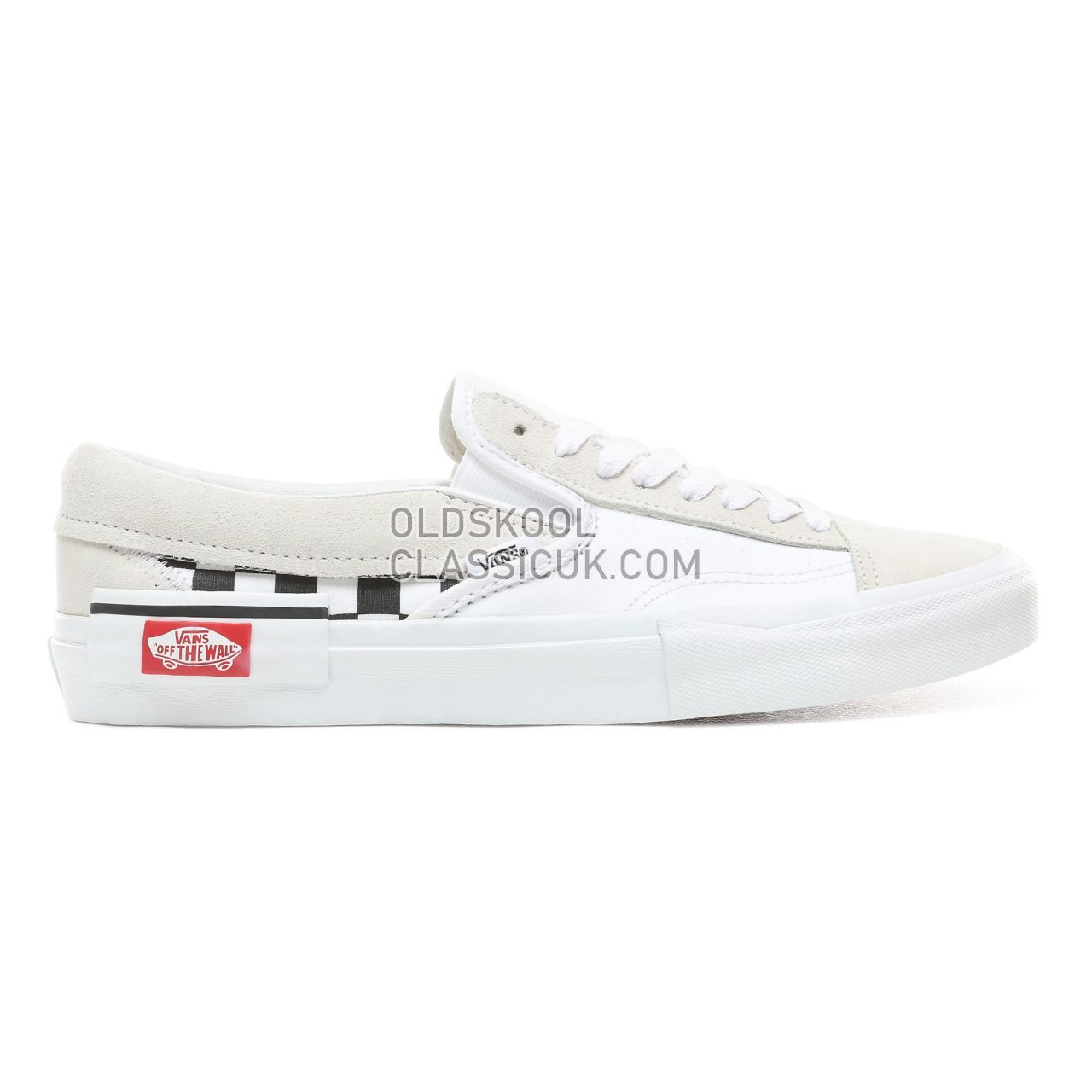 Vans Checkerboard Slip-On Cap Sneakers Mens (Checkerboard) True White/Black VN0A3WM527I Shoes