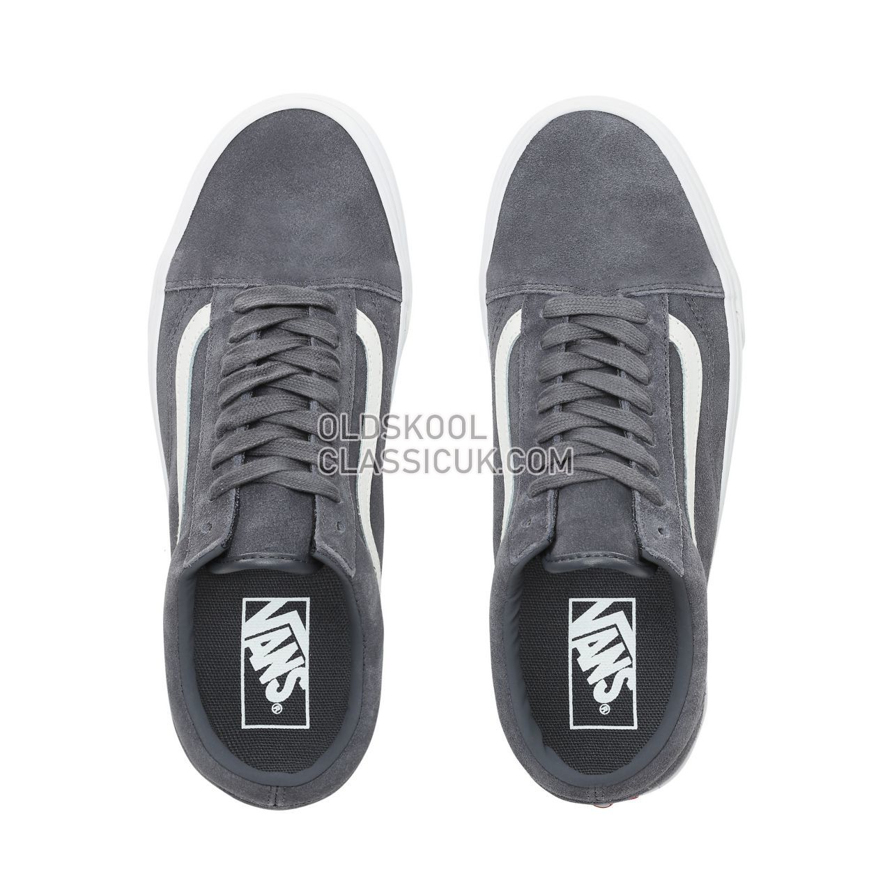 Vans Soft Suede Old Skool Sneakers Mens Womens Unisex (Soft Suede) Ebony/True White VN0A38G1VKE Shoes