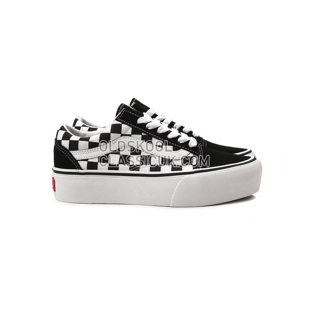 Vans Checkerboardboard Old Skool Platform Sneakers Mens Womens Unisex Black-True White VN0A3B3UHRK Shoes