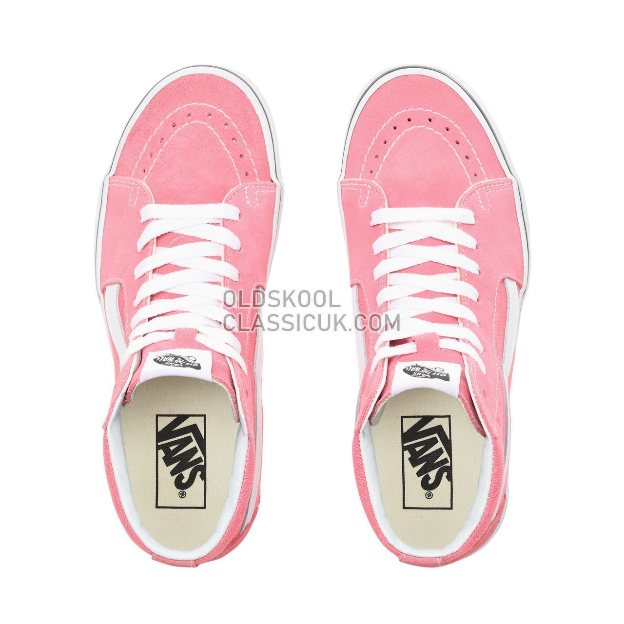 a59a6fed0e0 Vans Sk8-Hi Sneakers Womens Strawberry Pink True White VN0A38GEGY7 Shoes -  £65