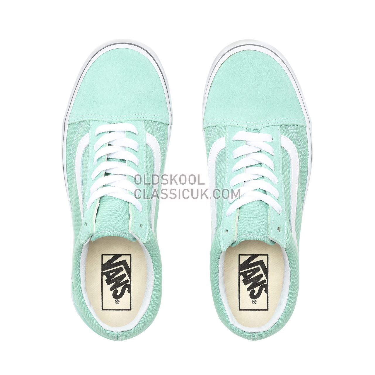 Vans Old Skool Sneakers Womens Neptune Green/True White VN0A38G1VMX Shoes