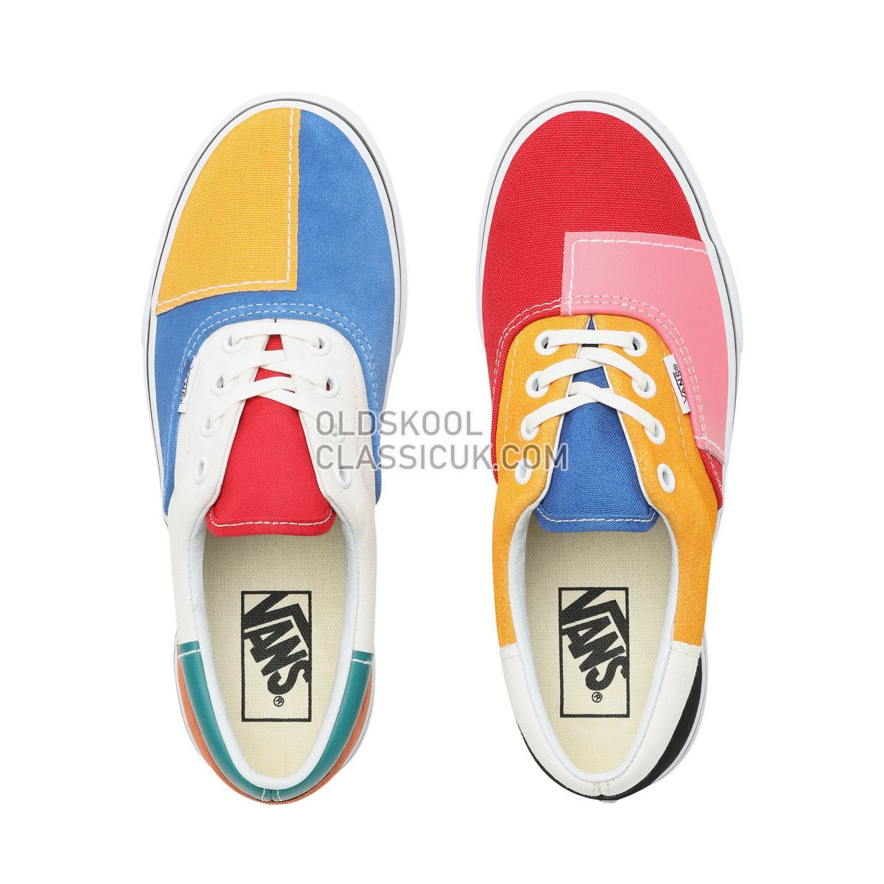 Vans Patchwork Era Sneakers Womens (Patchwork) Multi/True White VN0A38FRVMF Shoes