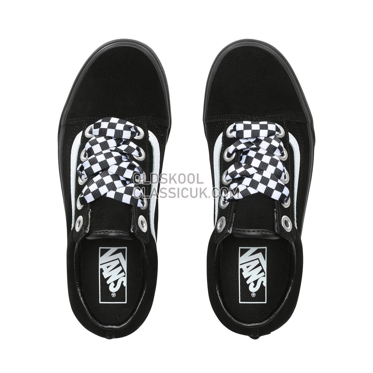 Vans Check Lace Old Skool Sneakers Womens (Check Lace) Black/Black VN0A38G1VR1 Shoes