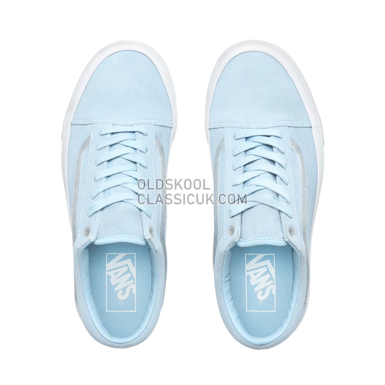 Vans Jelly Sidestripe Old Skool Sneakers Womens (Jelly Sidestripe) Cool Blue/True White VN0A38G1VRA Shoes