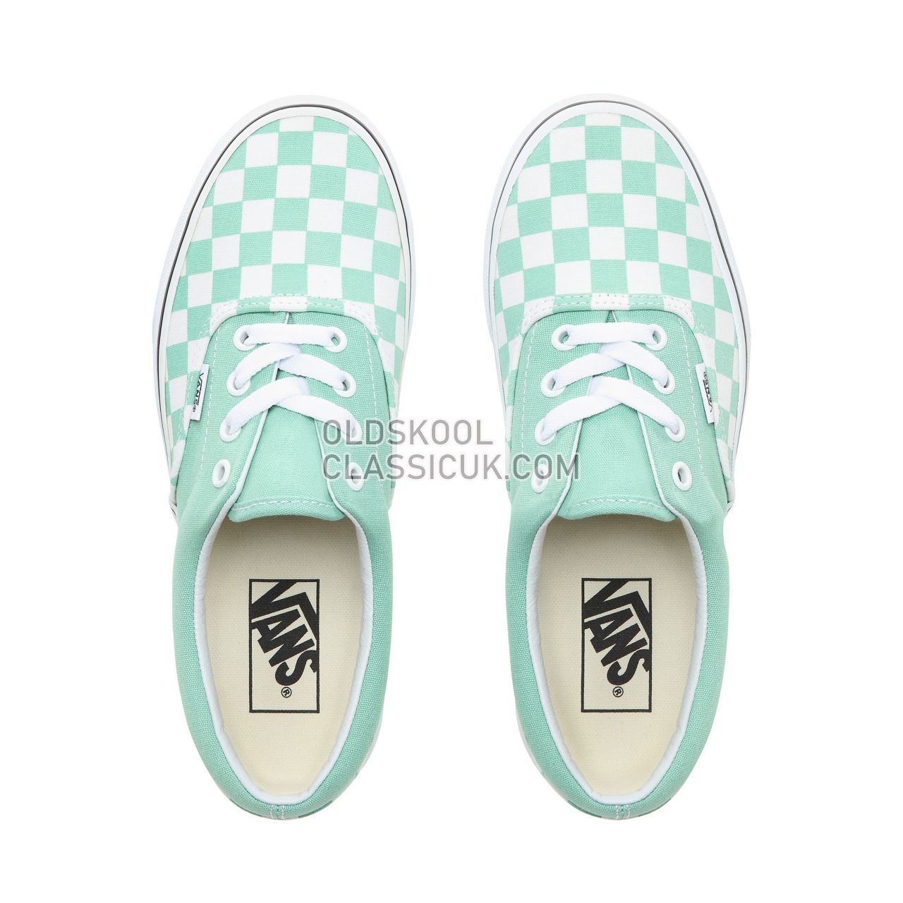 Vans Checkerboard Era Sneakers Womens (Checkerboard) Neptune Green/True White VN0A38FRVOV Shoes