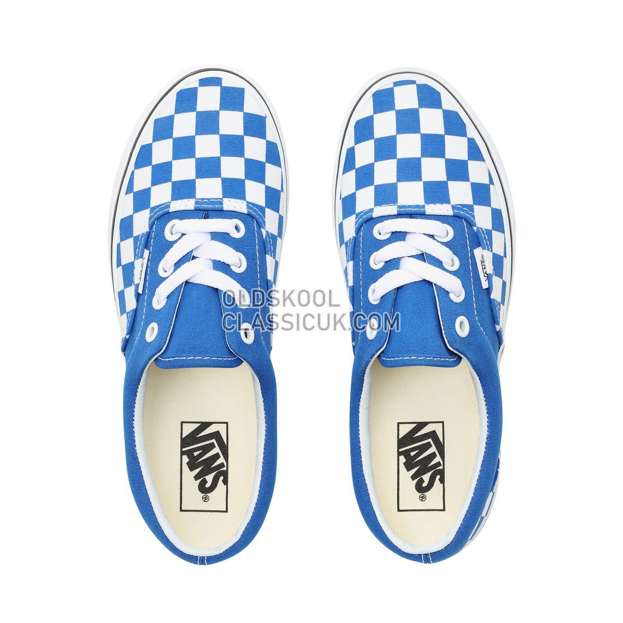 Vans Checkerboard Era Sneakers Womens (Checkerboard) Lapis Blue/True White VN0A38FRVOU Shoes