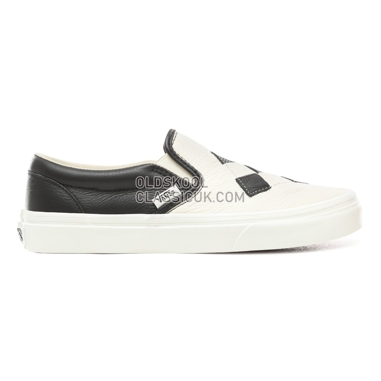 Vans Woven Leather Slip-On Sneakers Womens (Woven Leather) Checkerboard/Snow White VN0A38F7VMW Shoes
