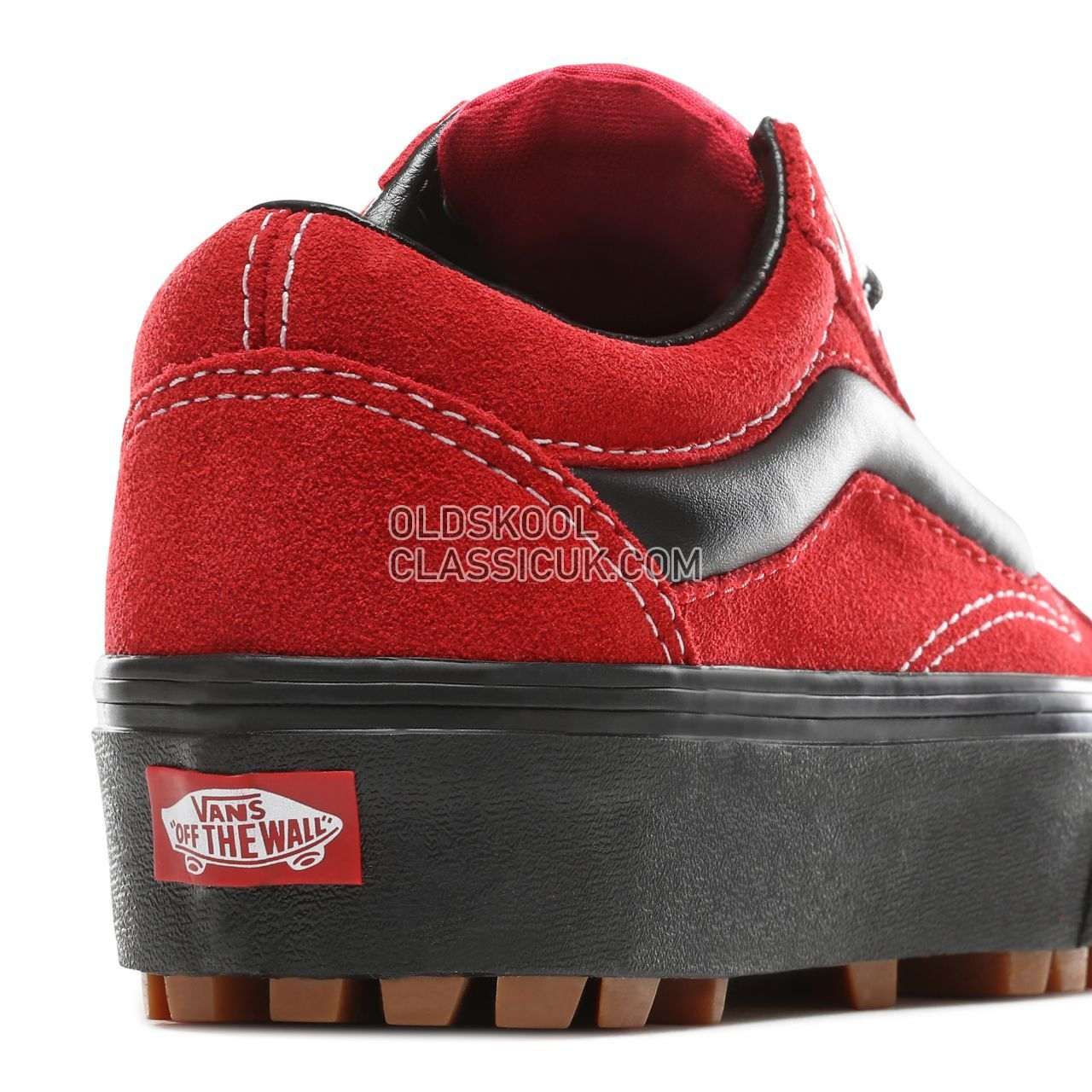 Vans 90s Retro Old Skool Lug Platform Sneakers Womens (90S Retro) Chili Pepper/Black VN0A3WLXVRX Shoes
